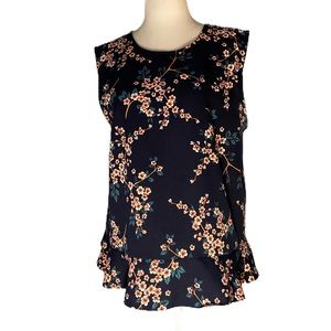 Banana Republic Sleeveless Floral Blouse